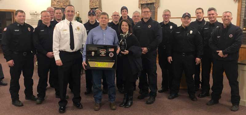 firefighters honoring Don Zwart