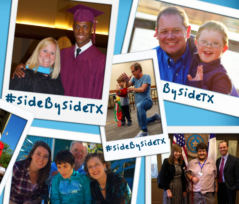 photos of people together with hashtag sidebysideTX