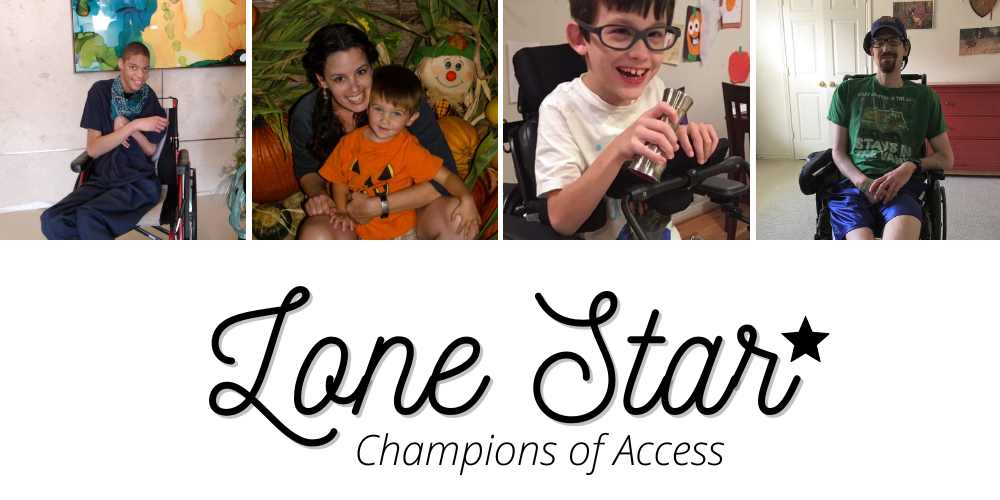images of past DRTx clients and the words Lone Star Champions of Access