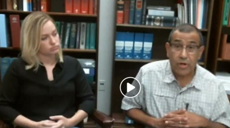 Lynn Murphy and Steven Aleman on Facebook video presenting info on back to school