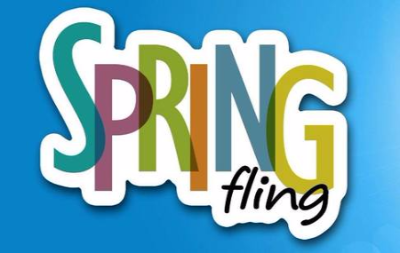 Image that says Spring Fling in colorful letters