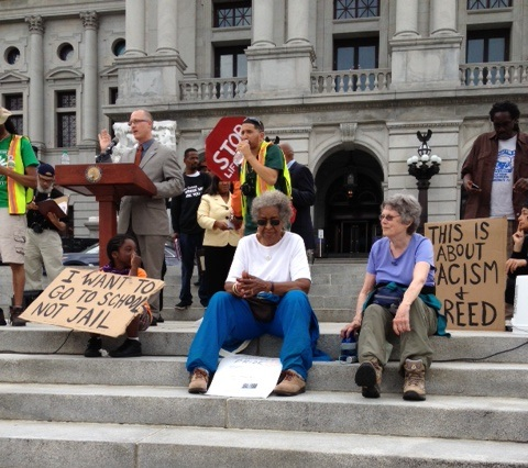 Decarcerate PA on the capitol steps 6.5.13