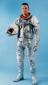 Gordon Cooper in his Mercury spacesuit