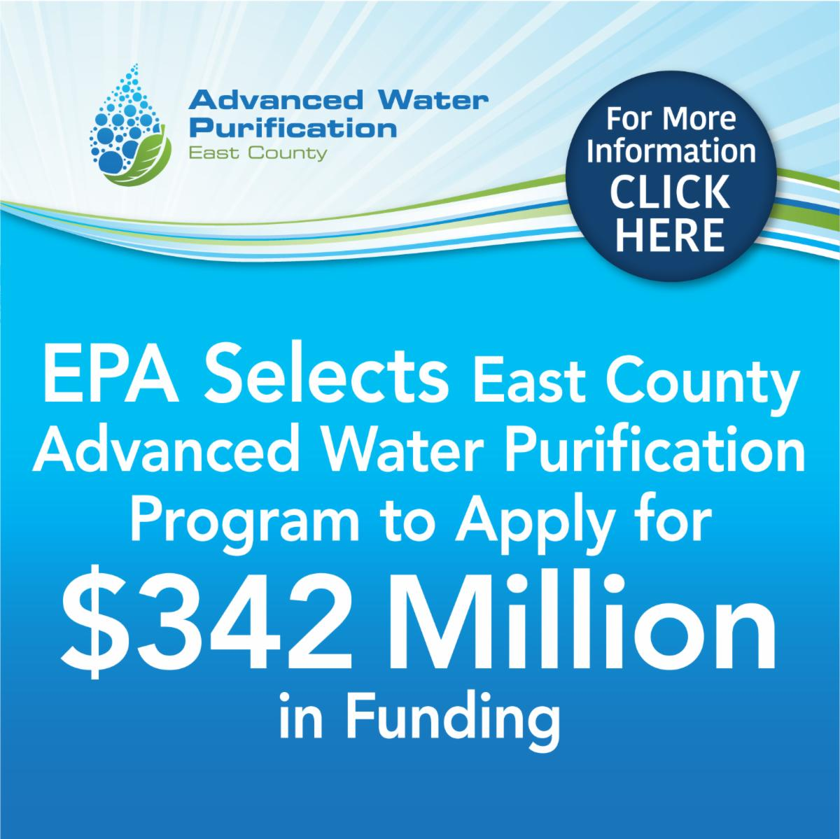 EPA Selects East County AWP to Apply for _342 Million in Funding