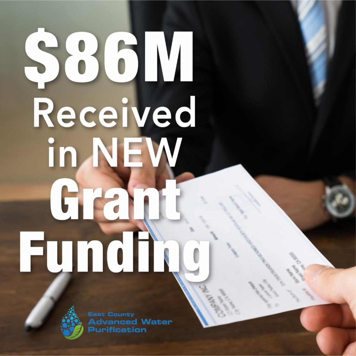 86M Received in New Grant Funding (image)