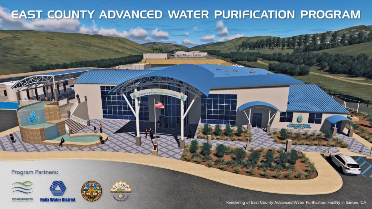 Artist rendering of the East County Advanced Water Purification Program Facility