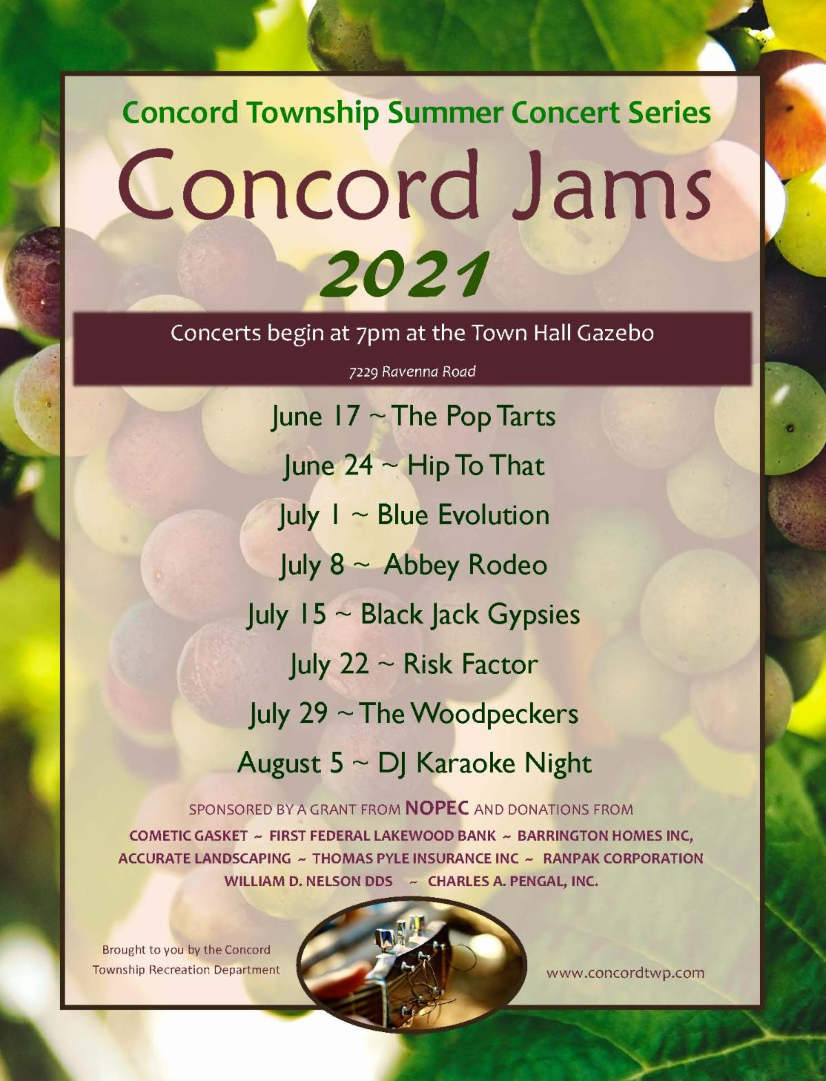 Concord Jams