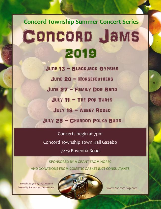 Summer Concert Schedule