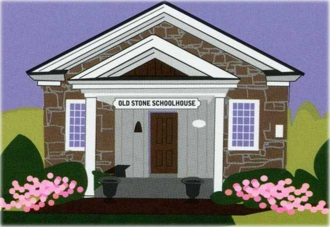 Old Stone School sketch