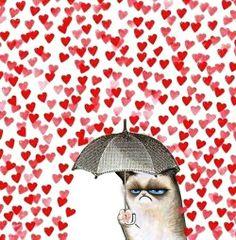 grumpy cat hearts