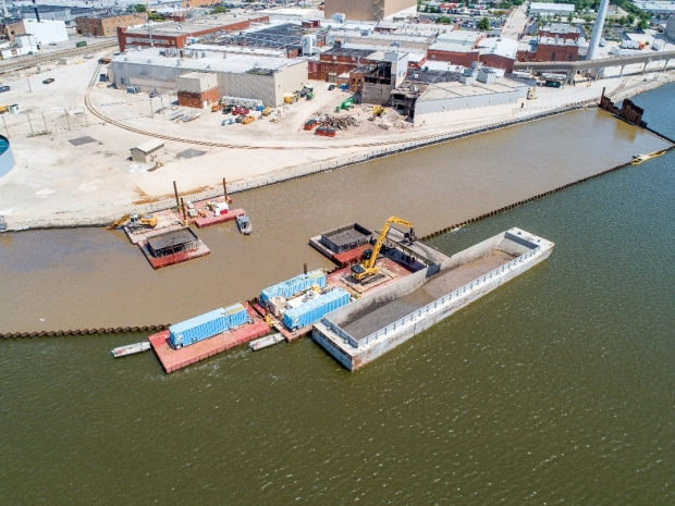 The Lower Fox River cleanup included dredging and removing 6.5 million cubic yards of contaminated sediments.