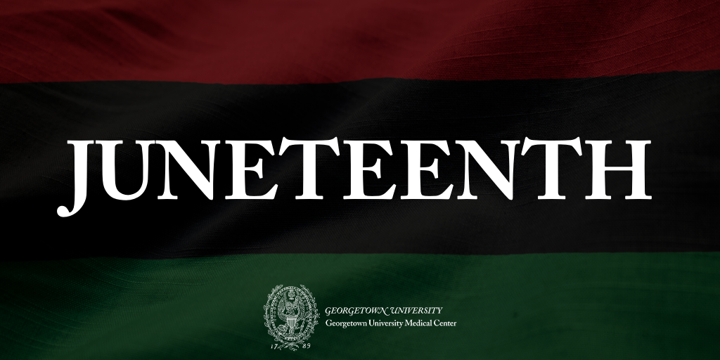 Graphic of Juneteenth with African Diaspora Colors