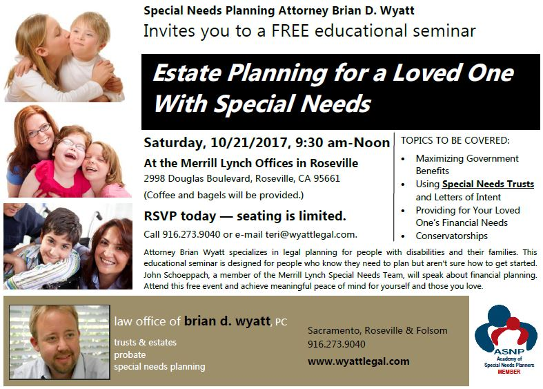 Estate Planning For Special Needs >> Special Needs Estate Planning Seminar