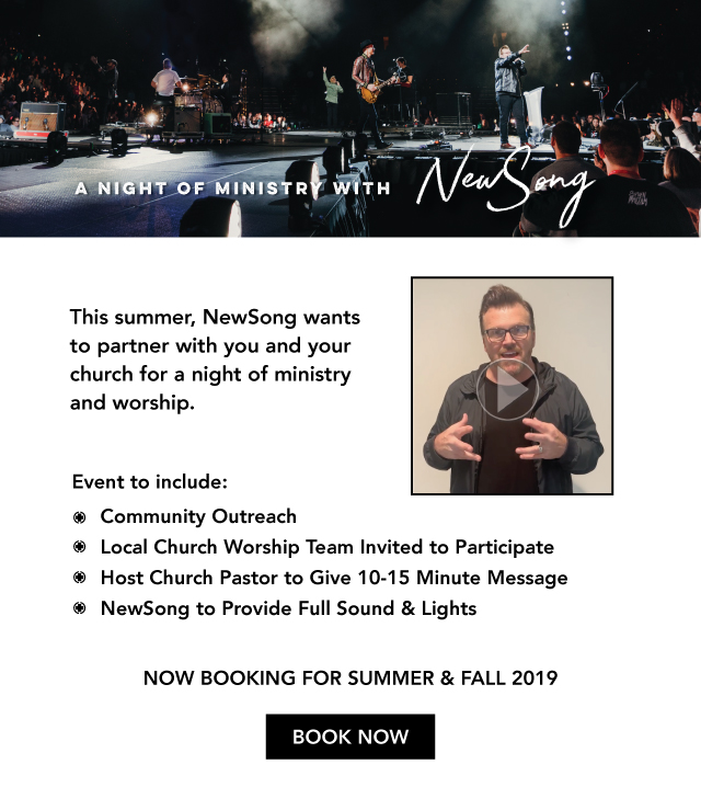 Bring NewSong to Your Church for a Night of Ministry and Worship!