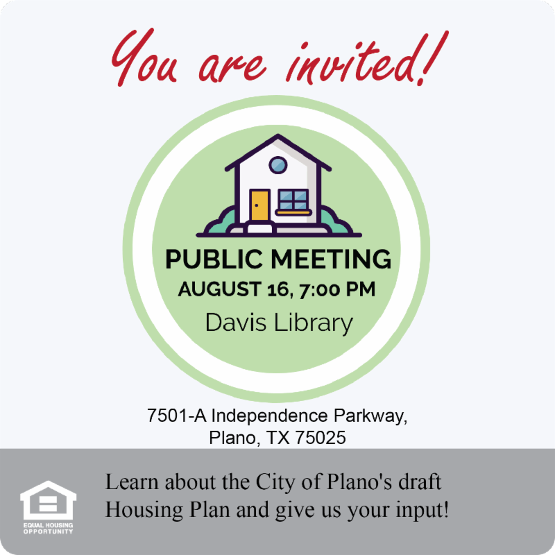 Housing Plano Public Input Meeting