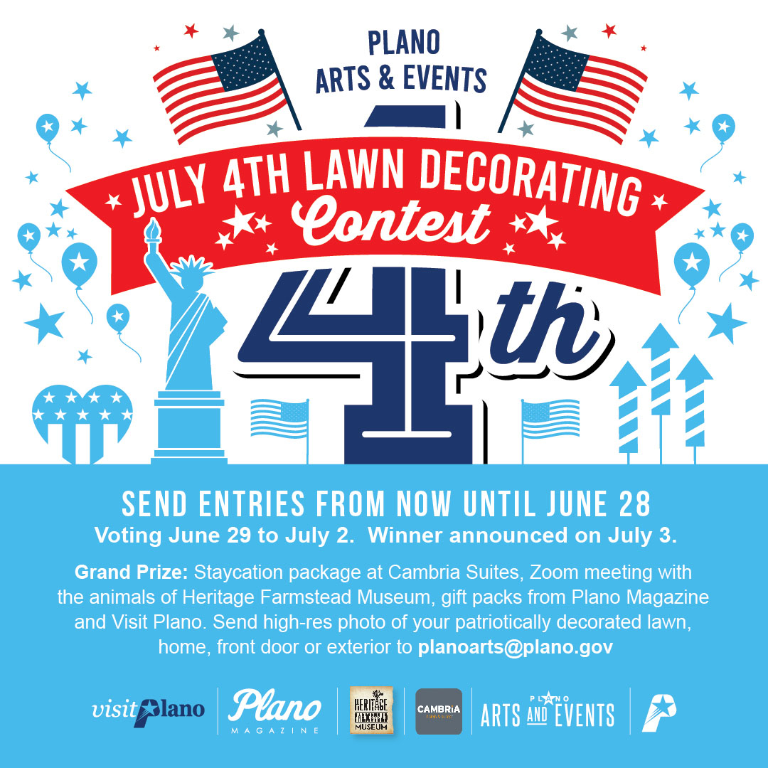 July 4th Lawn Decorating Contest flyer