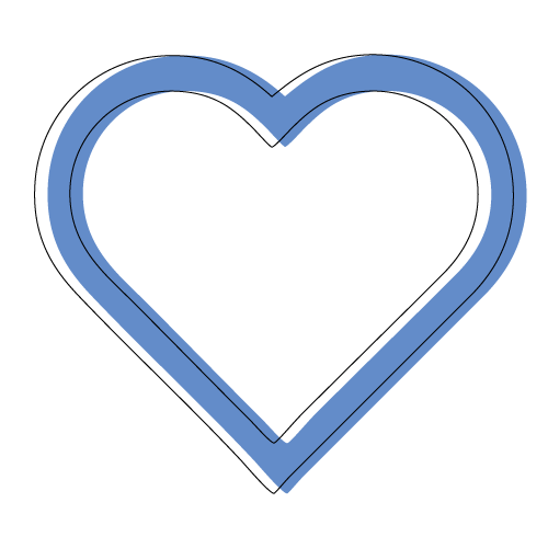 blue outline heart icon