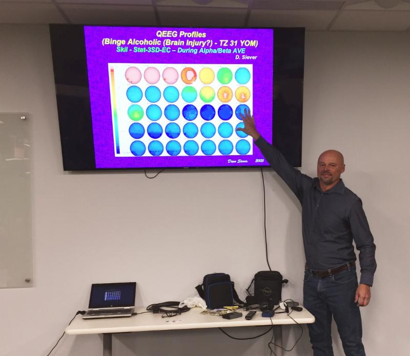 Dave Lectured About Neuroplasticity And How To Recover The Brain From Concussion Using Audio Visual Entrainment At A Meetup Group In