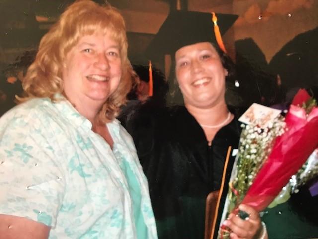 HSE Grad Jennifer Remlinger on her graduation day with mother.