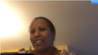 Student on a video call
