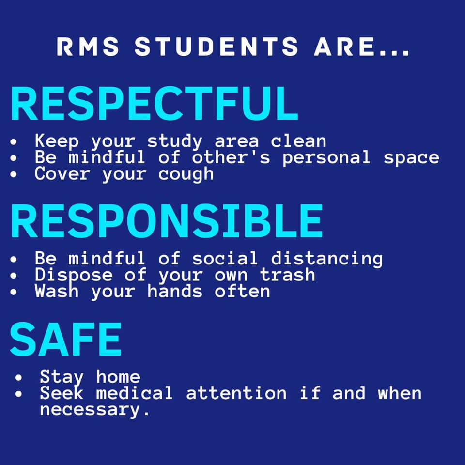 RMS students are respectful, responsible, and safe