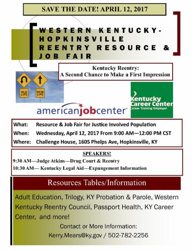 Western - Hopkinsville - No monthly meeting - Resource/Job