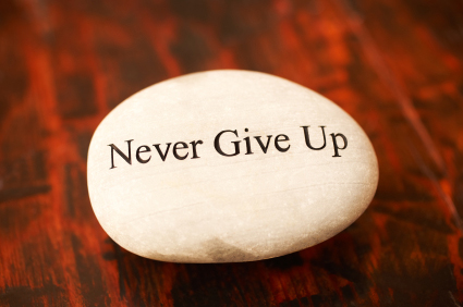 never give up stone