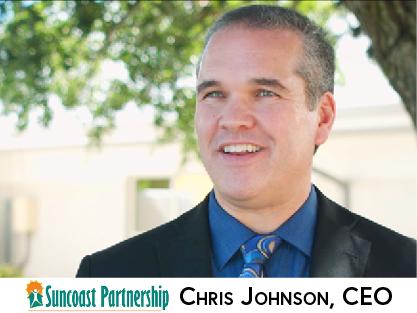 Chris Johnson CEO of Suncoast Partnership