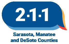 211 logo for Sarasota Manatee and DeSoto Counties