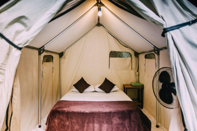 tent with queen size bed