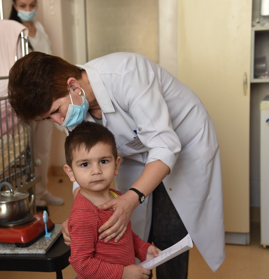 Dr Karine with child