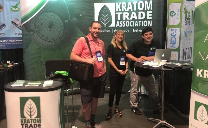 KTA representatives staffing an exhibitor booth at the 3-day CHAMPS Trade Show in Las Vegas.