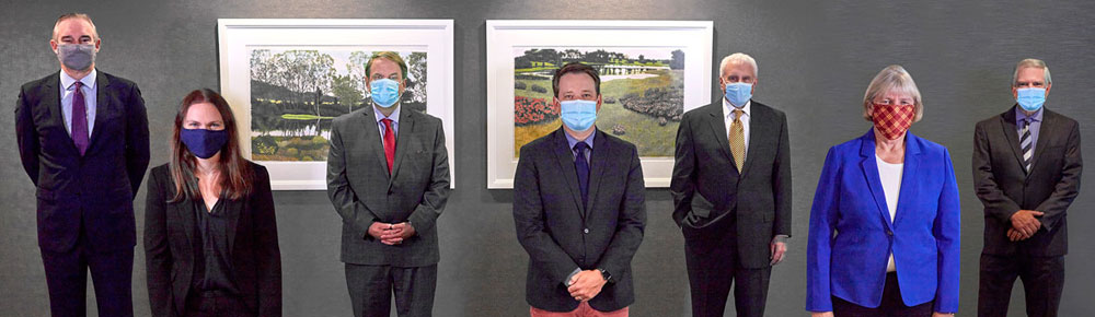 Lommen Abdo Law Firm's 2021 Best Lawyers with masks