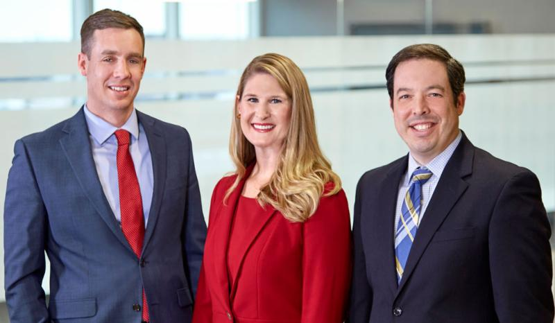 New Lommen Abdo shareholders Jesse Beier Lauren Nuffort and Cameron Kelly
