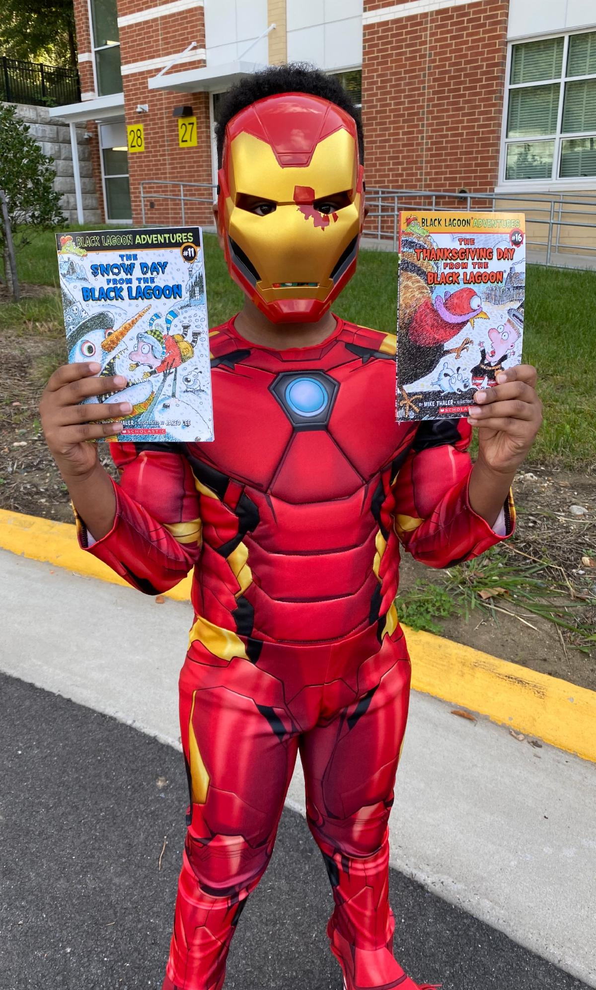 Superhero w books