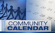 community calendar blue