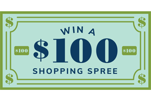 Win $100 shopping spree
