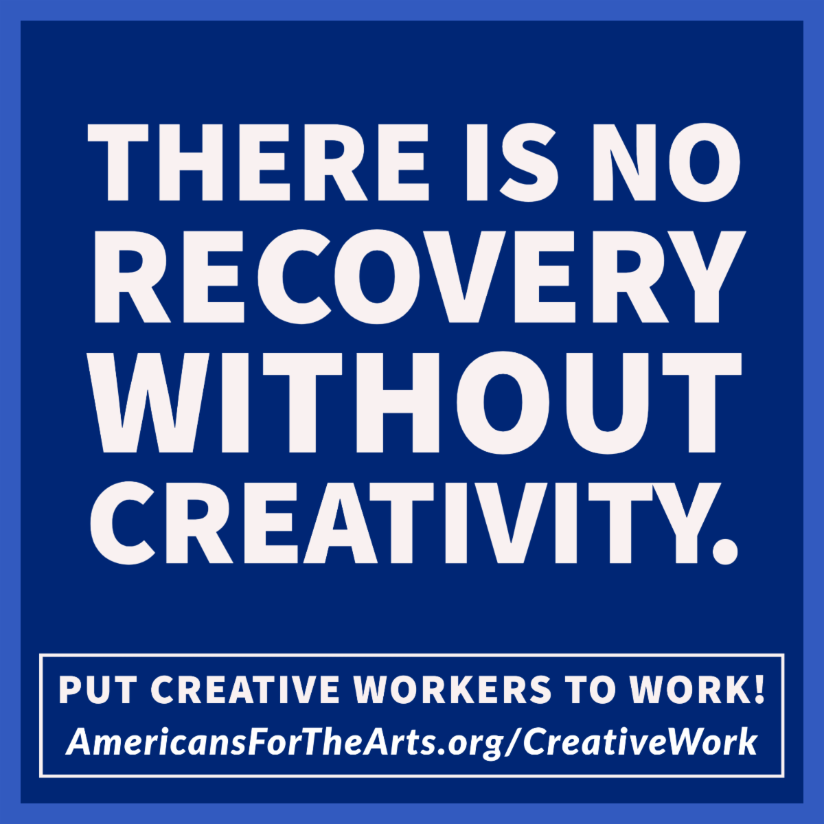 There is no recovery without creativity.