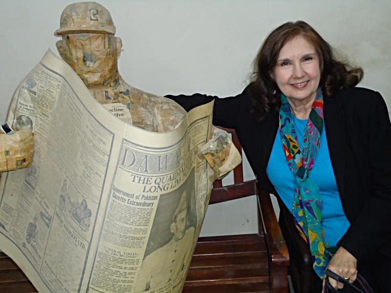 Pat and DAWN statue