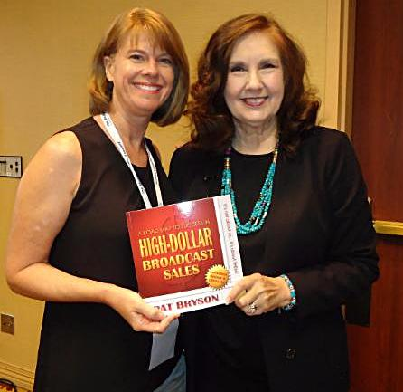 pat with Tina Sims book winner