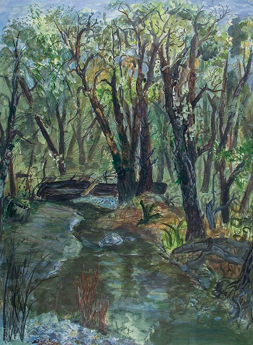 "Painting by Dennis Worrel - ""Wilson River"""