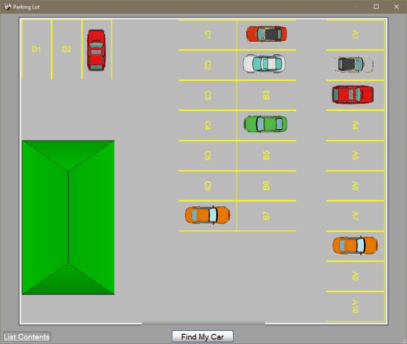Parking lot layout