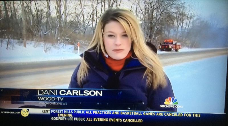 Dani Carlson on assignment.