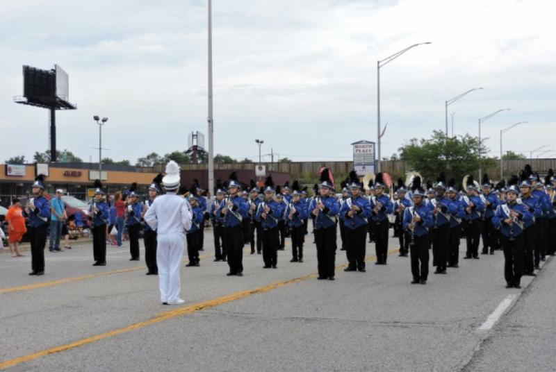 Marching Band in a parade.