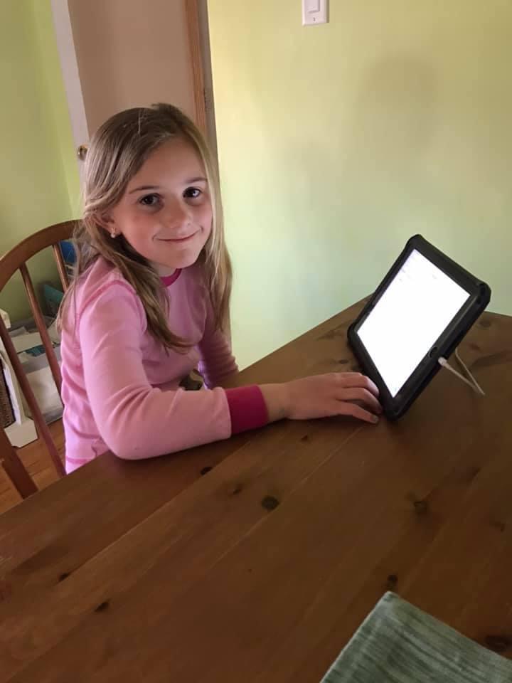 Fulton Student on iPad