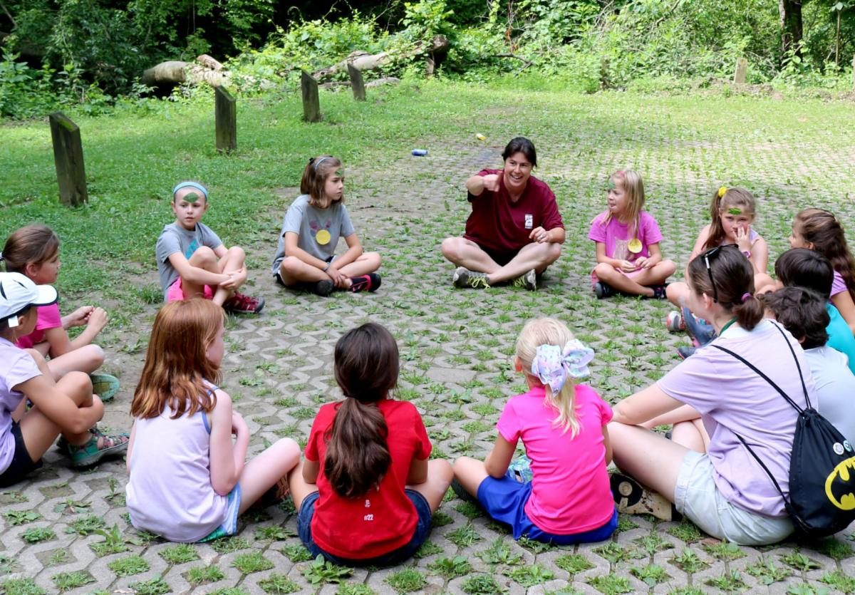 A group of children in summer camp