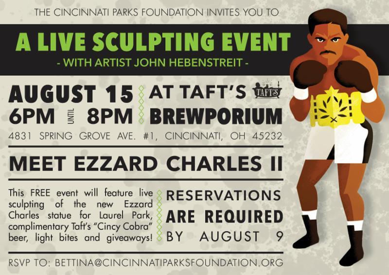 Ezzard Charles Live Sculpt Event Invite