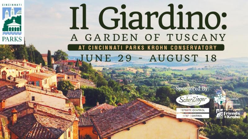 Garden of Tuscany event flier.