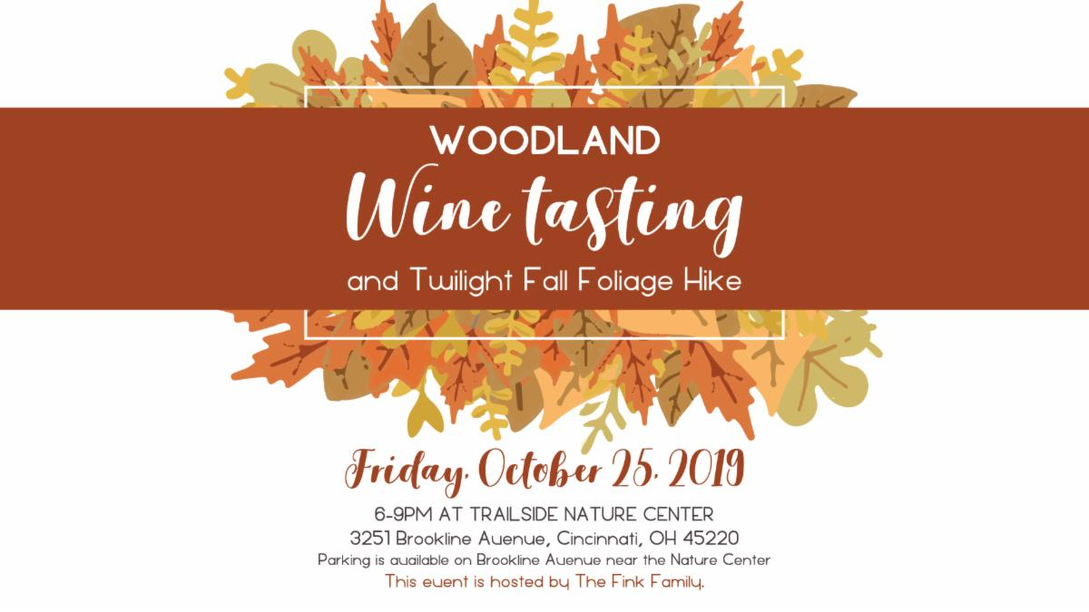You're Invited to a Woodland Wine Tasting on October 25