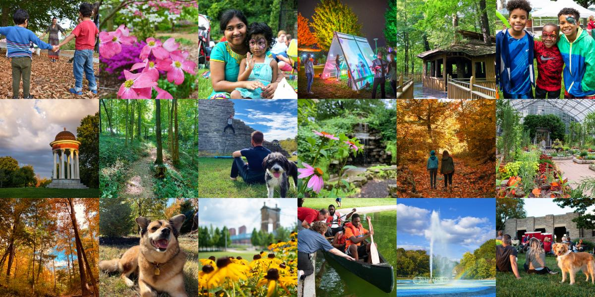 A collage of park photos